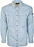 Drake Men's Featherlite Wingshooter's Quick-Drying Moisture-Wicking Long Sleeve Shirt, Blue Plaid, X-Large