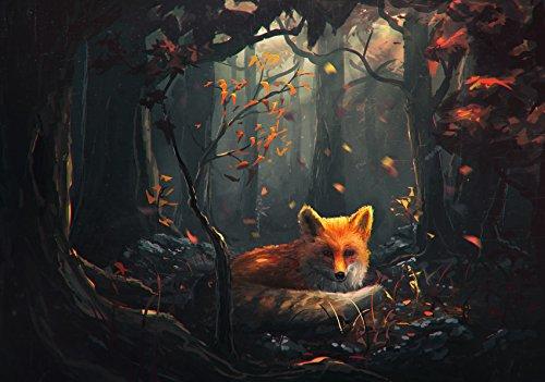 LYWUSUZE Wooden Adult Puzzle 1000 Stückkunst DIY Puzzle Fuchs Im Wald Personalisieren Adult Spiel Kinder Lernspielzeug