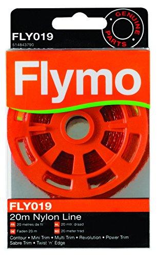 Flymo 2020m Nylon Trimmer Line für einige Flymo Gras Trimmer und Rasenbegrenzung–Rot