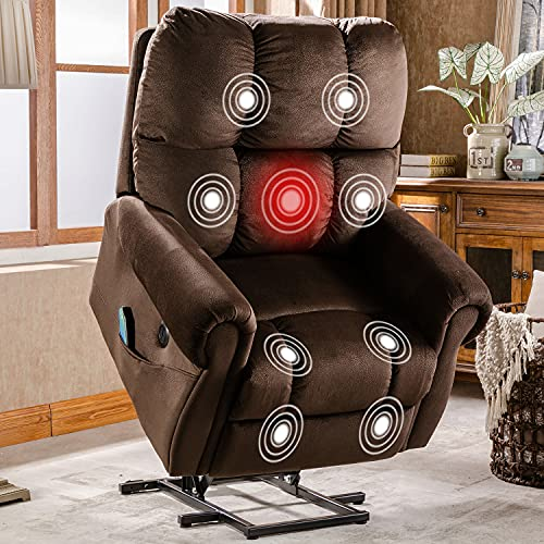 CANMOV Power Lift Recliner Chair Electric Recliner for Elderly Heated Vibration Massage...