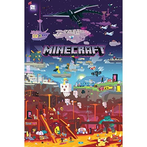 GB Eye. Maxi Poster Minecraft, World Beyond, Multicolore
