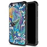 iPhone 6S Plus Case,9H Tempered Glass iPhone 6 Plus Cases for Boys Men, Rainbow Dragon Pattern Design Shockproof Anti-Scratch Case for Apple iPhone 6/6S Plus 5.5 inch Rainbow Dragon