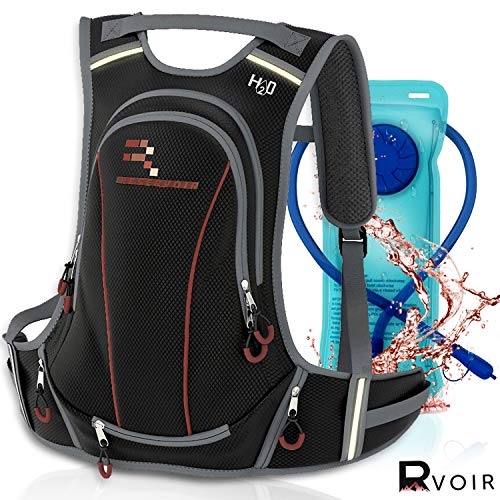 RVOIR Gear Insulated Hydration Backpack Hiking Backpack With Water Bladder | Leak Proof 2L BPA FREE| Insulated Backpack Cooler Keeps Cool 4Hours | Durable Hydration Pack For Hiking Running Cycling