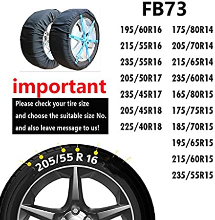 ATLI 2PC Anti-Skid Safety Ice Mud Tires Winter car tire Anti Skid Cover Car Snow Chains AT-FB73