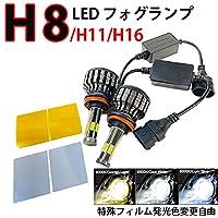 カローラ アクシオ H27.3-H29.9 NKE/NRE/NZE160系 フォグランプ LED H8 H11 H16 色交換シート付