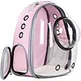 Figaro Cats Store - Mochila de burbuja para ventana espacial: portador portátil de viaje para mascotas, cápsula espacial para mascotas y gatos, mochila de viaje impermeable para gatos y perros (rosa)