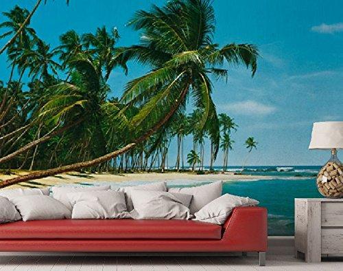 Fototapete Palmenstrand in der Südsee - Größe 366 x 254 cm, 8-teilig