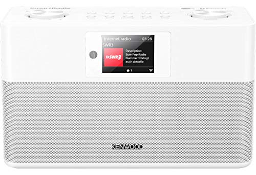Kenwood CR-ST100S-W - SmartRadio mit DAB+, UKW, WLAN Internetradio, USB, Spotify Connect und Bluetooth Audio-Streaming, weiß