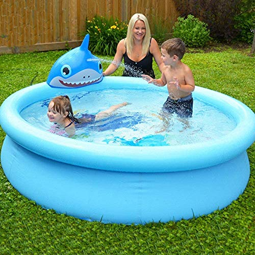 Zenghh Aufblasbarer Pool, Funktion Sprinkler for Babys zu halten, Cool Fun Bade Tub Toy, Familie Sommer Home Use Garten Outdoor-Wasserpark-Center, verdickte faltbar, Nette Karikatur-Spiel 190 * 47cm