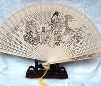 中国工芸扇子・ 白檀の香り付け人気の扇子・西安民芸品 (紅楼夢人物)