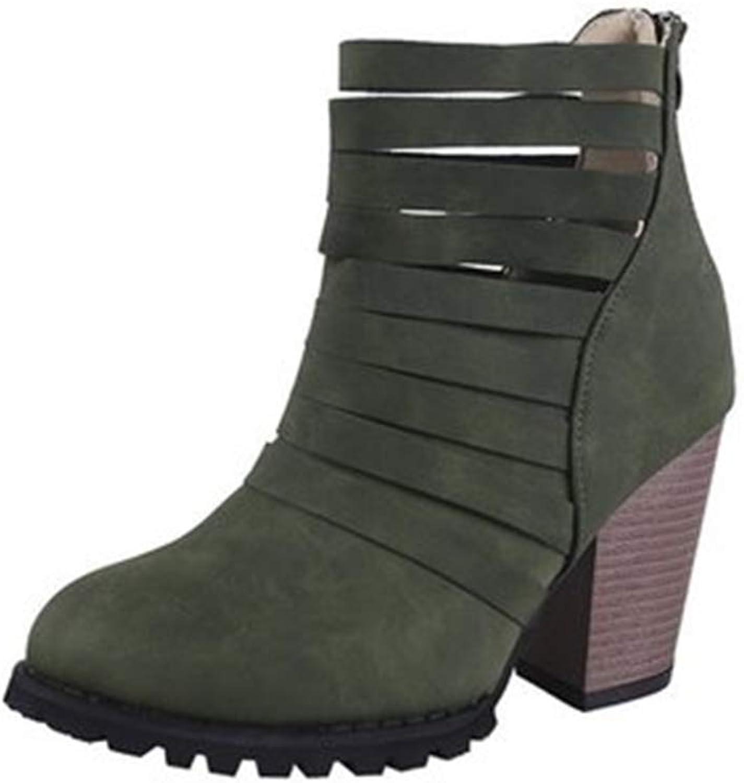 MINIKATA Women shoes Autumn shoes Ankle Solid Roman Martin Short Boots Single shoes
