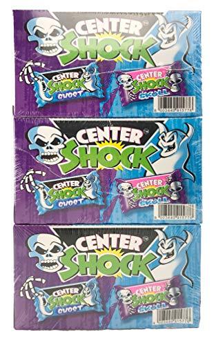 Center Shock Scary Mix: 3 Boxen mit 100 Kaugummis, extra-sauer, Zufallsgeschmack
