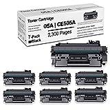 7 Pack05A Compatible 05A   CE505A TonerCartridgeReplacement for HP Laserjet P2035 (CE461A) P2035n (CE462A) P2055 (CE456A) P2055d (CE457A) P2055dn (CE459A) PrinterInkCartridge(Black).