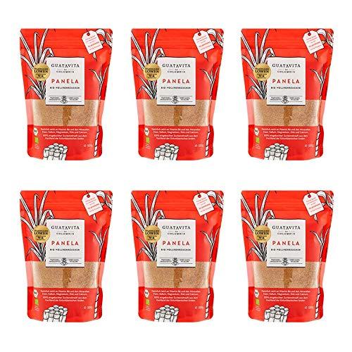 GUATAVITA de COLOMBIA Panela Vollrohrzucker aus Kolumbien I Panela-Zucker aus nachhaltigem Anbau & fair gehandelt I Vollrohrzucker reich an Mineralien & Vitamin B6 I Brauner Zucker I 6x500g