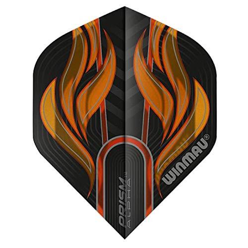WINMAU Prism Alpha Black & Orange Extra Dicke Dart Flights - 1 Sätze pro Packung (3 Flights insgesamt)