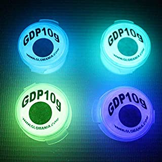 Glow in The Dark LIT Phosphorescent Strontium Aluminate Airbrush Pigment Powder Ideal for Slime Paint EPOXY Resin Fishing Automotive Coating Nail Lure White GDP 4 Colors Neutral Invisible PIGMENTS
