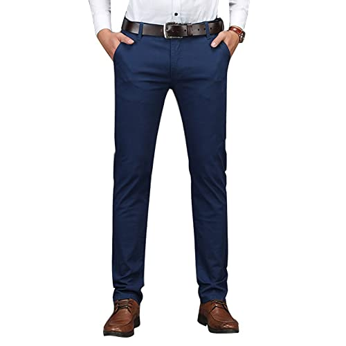 c82253a742e Plaid Plain Men s Business Casual Pants Men s Slim Fit Flat ...