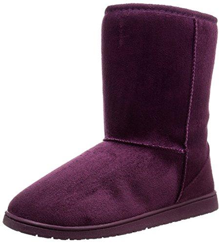 DAWGS Womens 9 Inch Faux Shearling Microfiber Vegan Winter Boots