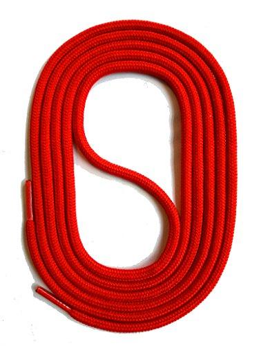 SNORS Schnürsenkel ROT RUND 3mm, 75cm reißfest, Made in Germany Rundsenkel aus Polyester für Sportschuhe Sneaker Turnschuhe Laufschuhe und Business-Anzug-schuhe