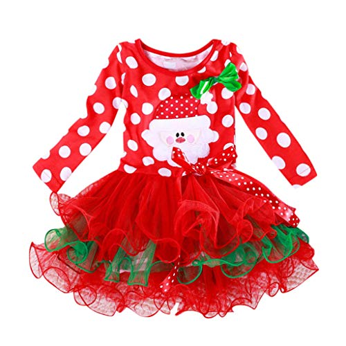 Fossen Kids - Pijamas Casero de Recién Nacido Bebé Navidad, Pantalon + Sombrero de Navidad 2 PC