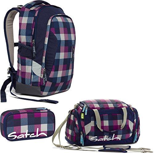Satch SLEEK Berry Carry 3er Set Schulrucksack + Sporttasche + Schlamperbox