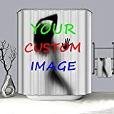 lilin Bathroom Custom Design Shower Curtain Customize Your own Image Shower Curtain with 6-12 Hooks Standard Size (72' x 84')