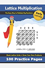 Lattice Multiplication: 100 Practice Pages - Ages 8-12 - Multiply Large Numbers - Double Digit Multiplication - Multi Digit - Long Multiplication ... Maths - Lattice Method - (KS2) (Grades 4-7) Paperback