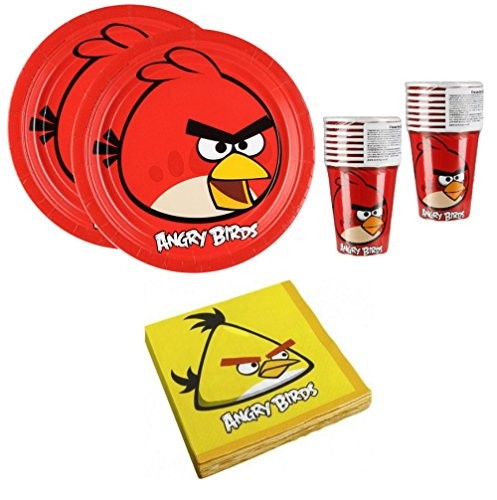 Angry Birds Birthday Party Supplies Set Plates Napkins Cups Kit for 16