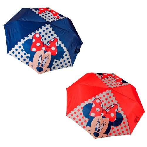 Paraguas plegable Face Minnie Disney 49,5cm surtido