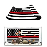 Fantasy Staring Aquarium Background Redline American Flag Honoring Firefighters Fish Tank Wallpaper Easy to Apply and Remove PVC Sticker Pictures Poster Background Decoration