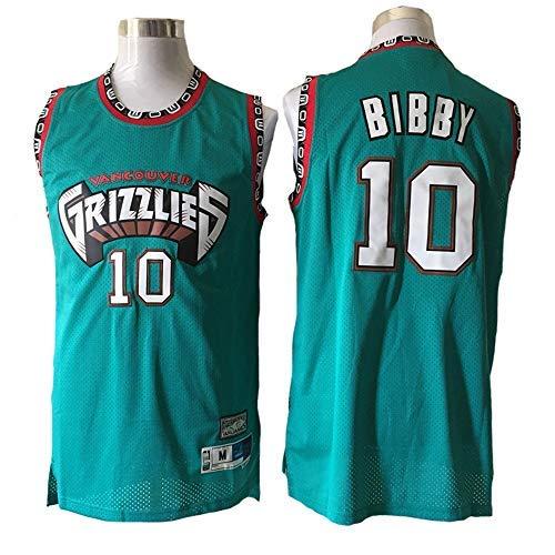 BMY Men's Jersey NBA Grizzlies #10 Bibby Retro Embroidery Jersey, Cool Breathable Fabric, Unisex Basketball Fan Sleeveless Sport Vest Top,M:175cm/65~75kg