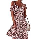 WHZXYDN 2021 Mujeres Europeas Y Americanas Nuevo Vestido Sin Tirantes Suelto con Estampado Digital Floral PequeñO Mujeres