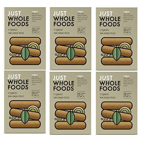 Just Wholefoods Vegane Bio-Wurstmischung – 125 g (6 Stück)
