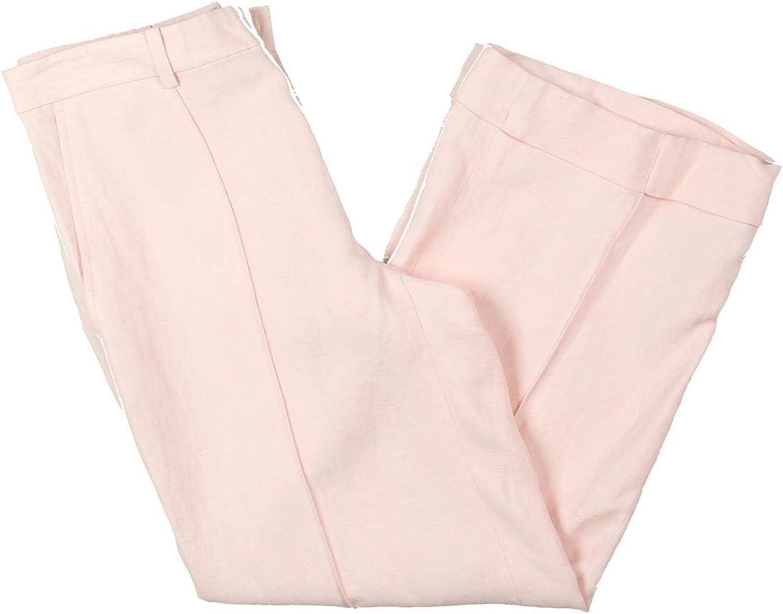 Lauren Ralph Lauren Womens Linen Wide Leg Capri Pants Pink 4