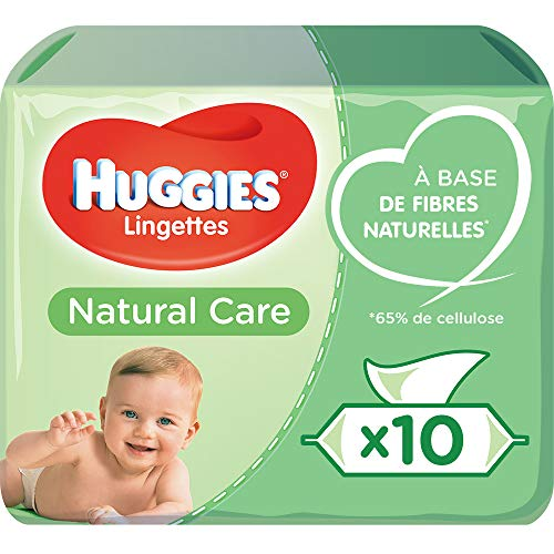 Huggies, Lingettes bébé, Pour tout le corps, À l'aloe vera, Natural Care 10x56 lingettes