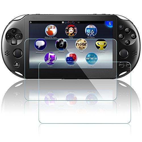 Protectores de Pantalla para Sony PlayStation Vita 2000, AFUNTA 2 Paquetes Vidrio Templado Película Anti - arañazos Escudo de Alta Definición para PS Vita PSV 2000