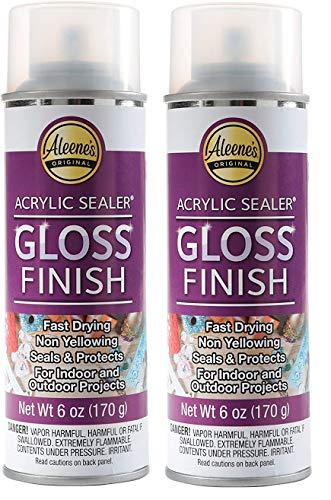 Aleene's Spray Gloss Finish 6oz Acrylic Sealer, Original Version Pack of 2