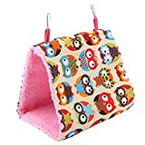 Duokon Parrot Hammock Pet <span class='highlight'>Bird</span>s Bed House Fuzzy Plush Winter Warm Soft <span class='highlight'>Nest</span> Toy Hanging Hut <span class='highlight'>Tent</span> Bed <span class='highlight'>Cage</span> Swing (#2)