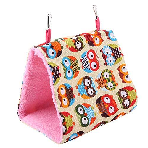 ochunペット用ハンモック 三角型 噛む玩具 天然素材 鳥・フェレット・デグー・モモンガ・リス・シマリス・小動物用 カラフル 多色選択可能(#2)
