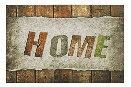 Paillasson / Paillasson / Paillasson / Paillasson / Paillasson / Paillasson / Paillasson / Paillasson / Paillasson – Tapis en bois – Bois – Rayures en bois – Home – Multicolore, amusant – Taille env. Paillasson de qualité 40 x 60 cm