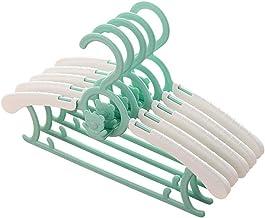 MLLZX 10 PCS Kids Clothes Hanger Racks Adjustable Plastic Display Hangers Windproof Non-slip Coats Hanger Baby Clothing Or...