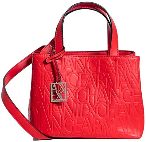 Armani Exchange Liz – Small Open Shopping Tote, 18 x 13 x 26 cm, color Rojo, talla 18x13x26 cm (B x H x T)