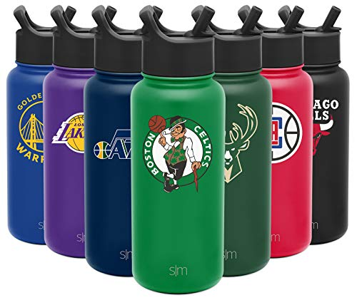 Simple Modern NBA Boston Celtics 32oz Water Bottle with Straw Lid Insulated Stainless Steel Summit