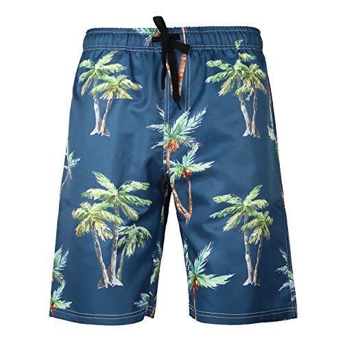 MOTOCO Herren Badehose Sommer Herren Printed Shorts Lässige Shorts Hosen Badehose Kleidung Urlaub Kleidung Strandhosen(3XL,Marine)