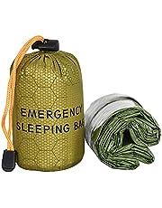 Slaapzak, Whistle Green Draagbare Outdoor Survival Slaapzak voor Camping Thermische Bivvy Lichtgewicht Survival Bag Waterdichte Noodsituatie Deken ook gebruikt als picknickmat