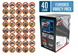 Brooklyn Beans Flavored Coffee Variety Pack Pods, Compatible with 2.0 K-Cup Brewers, 40 Count