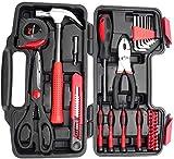 38 teiliger Werkzeugkoffer, Werkzeugkasten Werkzeugsätze Tool Kit Werkzeugset mit Schraubendreher Hammer Zange Schere