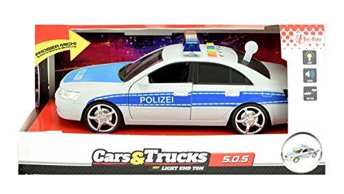 Toi-Toys 24049A - Modellauto Polizei mit Sirene und Rückzugmotor
