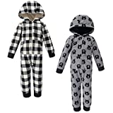 Yoga Sprout Unisex Baby Hooded Fleece Jumpsuits, Bear Toddler, 4 Toddler