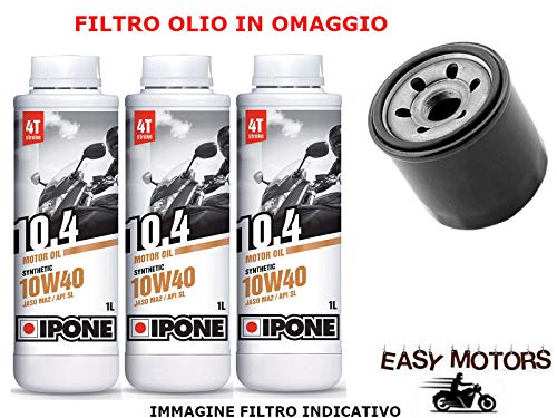 Desconocido Kit DE Mantenimiento DE Motor DE Aceite 10W40 IPONE + Filtro Olio Quadro Quadro D - Quadro 3 350 12/15